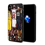 Forever Collectibles iPhone X Case, Basketball Star Fashion Protective Shockproof Anti-Scratch Soft Bumper Case for iPhone X/XS