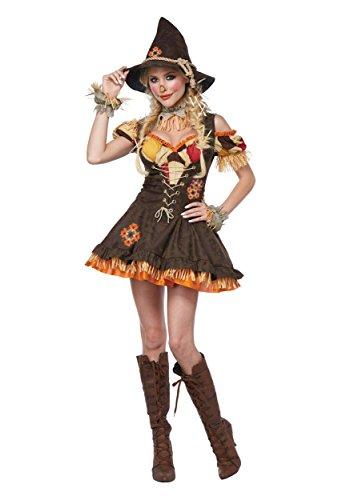 California Costumes Women's Sassy Scarecrow Costume, brown, 2X Large