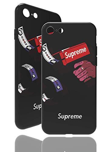 SUP Pistol Case [ Passend für Apple iPhone 7/8, Schwarz ] - Supreme Hülle mit Geldpistolen 3D-Motiv/Cashgun Design/Fühlbares Muster TPU