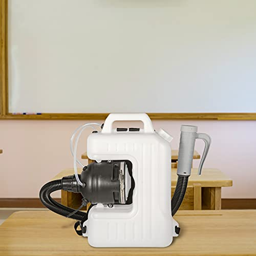 VEVOR Electric Fogger Machine 2.6GAL Backpack Sprayer 1200W Backpack Mist Blower Adjustable Particle Size 20-50?m ULV Cold Fogging Machine Portable with Extended Commercial Hose for Indoor/Outdoor