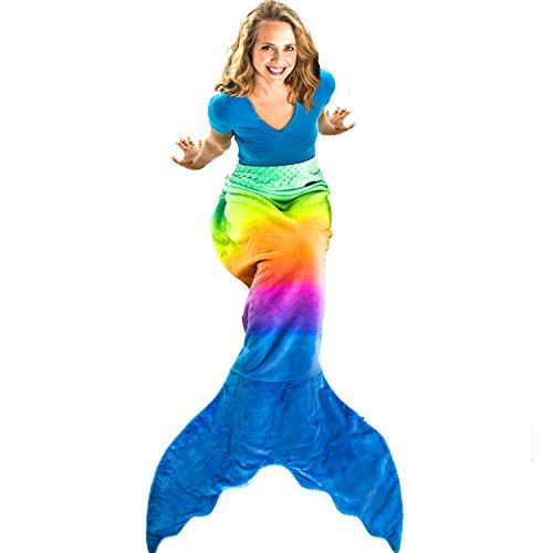 Blankie Tails, Die Original Meerjungfrau Decke , Rainbow Ombre , für Erwachsene / Jugendliche