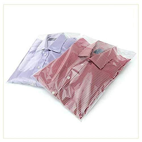 VIRSUS 100 Buste Cellophane Trasparenti per Indumenti t- Shirt Camice 35 x 50 + 5 cm Labbro Aletta Autoadesiva Idea Regalo Confezionare Oggetti Dolci Gioielli Collane