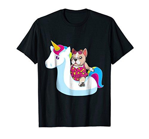 French Bulldog Bikini On Unicorn Float Funny Dog T Shirt