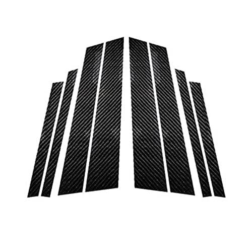 DMKJ Pilares B De Ventana De Coche De Fibra De Carbono Molduras De Molduras Pegatinas De Estilo De Coche para B-MW 3 5 Series E90 F30 F10 E60 E70 E46 F07 Accesorios (Color : F25 (2011-2017))