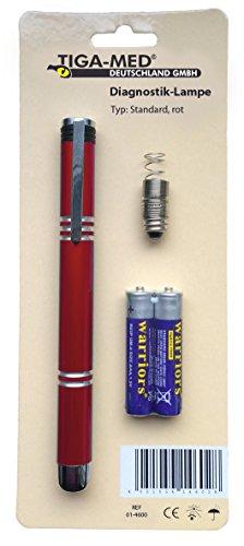 Diagnostikleuchte Pupillenlampe Penlight Rot Typ: Standard mit Batterien Tiga-Med Diagnostiklampe Diagnostiklampen NEU&OVP