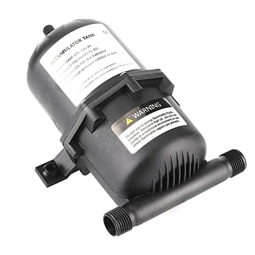 KUIDAMOS Tanque acumulador, Bomba de Agua de 125 PSI, rentable en Miniatura para máquina Limpia para Yates para embarcaciones Marinas para vehículos recreativos