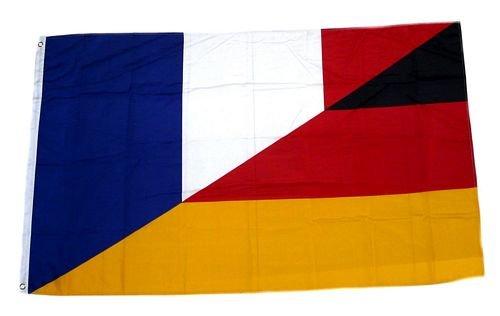 FahnenMax® Flagge/Fahne Deutschland/Frankreich 90 x 150 cm