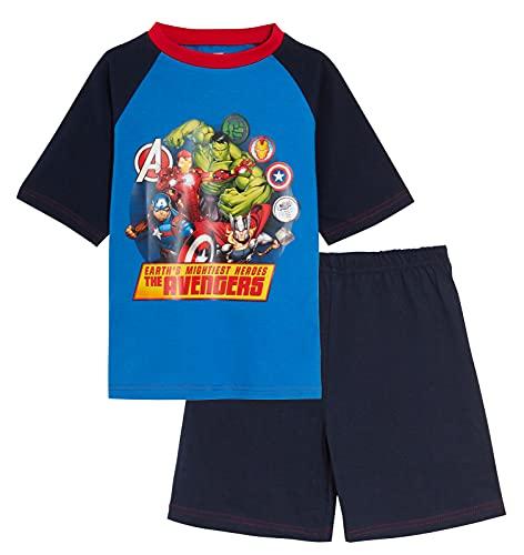 MARVEL Pyjama court Avengers pour garçon - Bleu - 9-10 ans