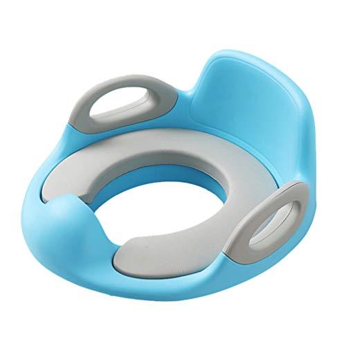 N / A Kinder Toilettensitz, Töpfchen Trainer WC Sitz für Jungen und Mädchen, Ergonomisch Geformt mit Spritzschutz Hellblau1 Einheitsgröße