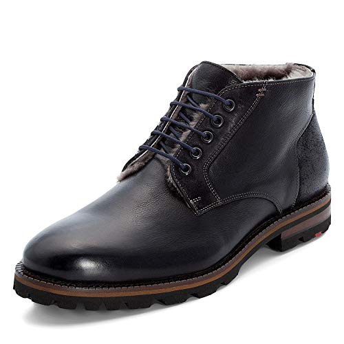 LLOYD Herren Desert Boots Homer, Männer Stiefeletten,Stiefel,Halbstiefel,Schnürboots,Bootie,gefüttert,Winterstiefel,SCHWARZ,10.5 UK / 45 EU