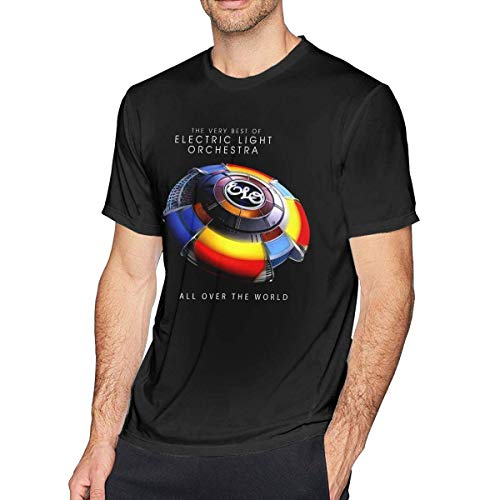 fshsh Camisetas y Tops Hombre Polos y Camisas Electric-Light Orchestra T-Shirt Men's Crew Neck T Shirts Patriotic Tees for Men Size:S-6XL