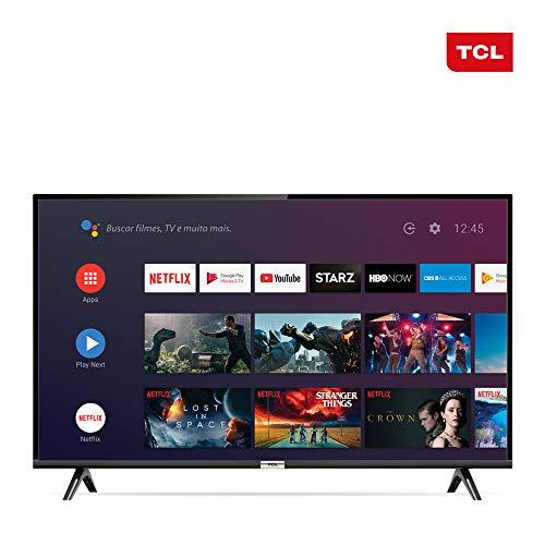 Smart TV LED 43' Android TCl 43s6500 Full HD com Conversor Digital Wi-Fi Bluetooth 1 USB 2 HDMI Controle Remoto com Comando de Voz Google Assistant