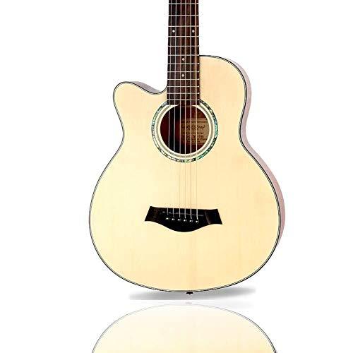Guitarra eléctrica Guitarra acústica Cutaway guitarra clásica con cuerdas de acero for zurdos madera guitarra for principiantes kits con Funda ceja del sintonizador de la correa 2 Selecciones