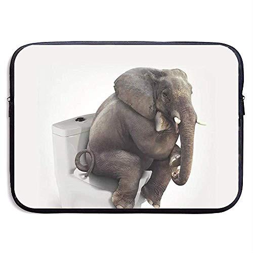 Draagbare laptophoes, zakelijke tas, laptop aktetas, laptoptas, laptoptas, notebooktas, grappige Indiase olifant, de op toilet compatibele notitieboek-tas-kast, afdekking, laptop-huls-tas 13 Inch 1397