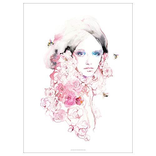 PJÄTTERYD bild 70 x 100 cm blomma flicka