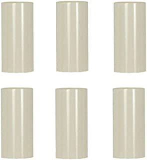 Creative Hobbies 2 Inch Tall Cream Plastic Candle Covers Sleeves Chandelier Socket Covers - Set of 6 - Candelabra Base