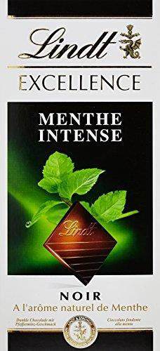 Lindt Chocolat Noir Menthe Intense la Tablette 100 g