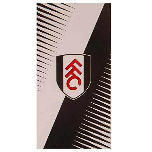 Fulham F.C. Towel, Polycotton, Black & White, 75 X 150 cm