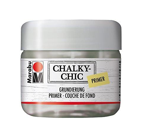 Marabu 02620025866 - Chalky Chic Grundierung, transparent 225 ml, Primer auf Wasserbasis, zur Vorbereitung von gebrauchten und harzenden Holzoberflächen, schützt helle Farbanstriche vor Verfärbungen