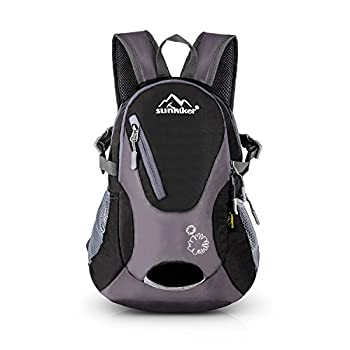 Cycling Hiking Backpack Sunhiker Water Resistant Travel Backpack Lightweight SMALL Daypack M0714  Black
