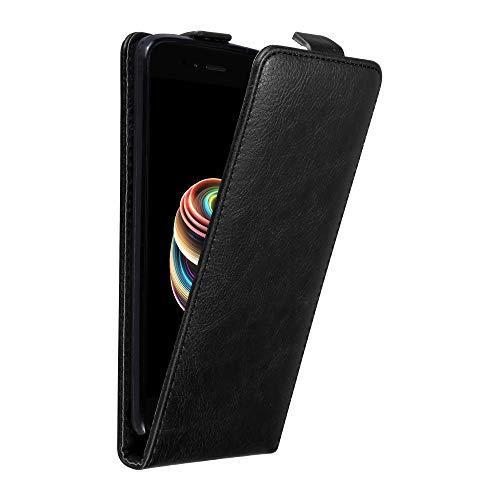 Cadorabo Funda para Xiaomi Mi A1 / 5X in Negro Antracita - Cubierta Proteccíon Estilo Flip con Cierre Magnético - Etui Case Cover Carcasa