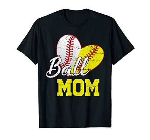 Funny Ball Mom Softball Baseball Gifts For Women Mothers Day T-Shirt