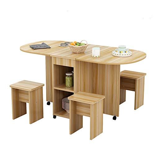 EXCLVEA Tavolo da Cucina Moderno ed Elegante Legno Tavolo allungabile Domestica 4 Persona Circolare Mobile Semplice Tavolo Rettangolare Pieghevole (Colore : B, Dimensione : 120x78x75cm)