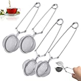 Ball Tea Strainer Tea Strainer Tè Sfuso Pinze Filtro Te Colino Tisane Tea Filter Long Gri...