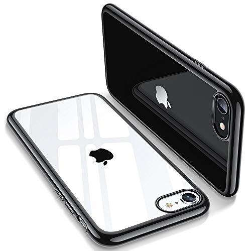 ESR Essential Zero Designed for iPhone SE 2020 Case, iPhone 8 Case, iPhone 7 Case, [Yellowing-Resistant TPU] [1.1 mm Thick Back Case] [Shock-Absorbing Air-Guard Corners] Flexible Silicone Case, Black