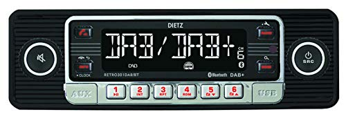 Dietz Retro Radio301DAB/BT, DAB+, BT, MP3, USB, RDS schwarz-Chrom
