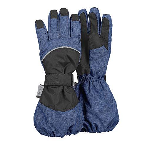 Sterntaler Wasserabweisende und wasserdichte Stulpen-Fingerhandschuhe, Alter: 10-11 Jahre, Größe: 6, Mittelblau