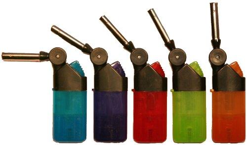 """5stk. Stabfeuerzeug \""""TURBO\"""" mit roter Sturmflamme 12,5cm lang, verschiedene Farben"""