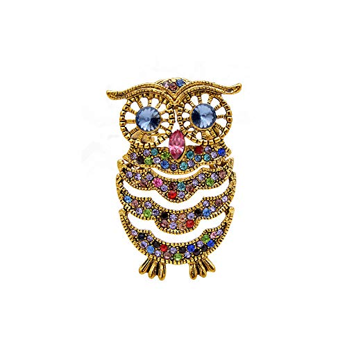 Crystal Cute Owl Brooches For Women Vintage New Design Animal Bird Pin Fashion Kids Jewelry Gift