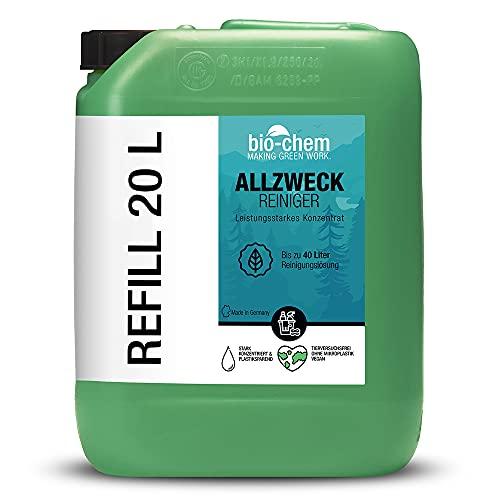 Bio-chem Limpiador multiusos concentrado – Extremadamente potente para una limpieza higiénica – Bidón de 20 l – Limpiador de cocina Multi Clean – para todo el hogar, cocina, baño, salón