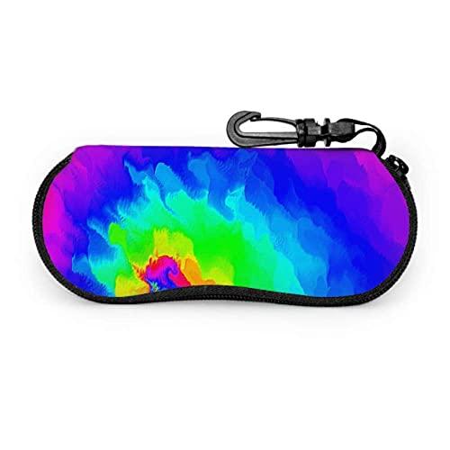Tcerlcir Estuche para anteojos Estuche para gafas de sol para niños con colores de colores y arcoíris Estuche para gafas de sol suave, portátil y ligero para jóvenes, 17x8cm