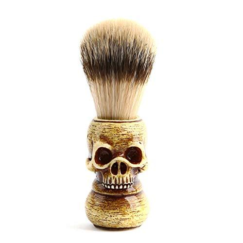 Halloween Schädel Dachs Haar Männer Rasierpinsel Friseur mit Holzgriff Männliches Geschenk Gesichts Bart Sauberes Rasierwerkzeug Salon Rasiermesser Pinsel