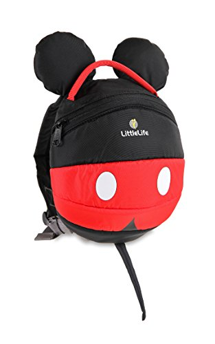 LittleLife Mickey Mouse Disney Toddler Backpack Rucksack Unisex-Baby, Red
