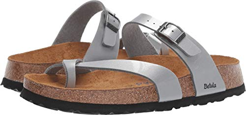 Birkenstock Betula Licensed Mia Soft Metal Silver Birko-Flor 37 (US Women's 6-6.5) Narrow