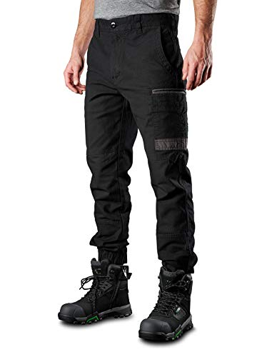 FXD Men's WP.4 Stretch Jogger Work Pant, 34W X 32L, Black