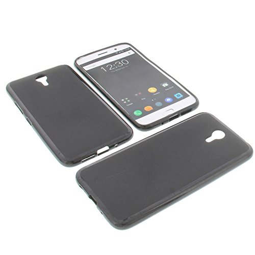 foto-kontor Tasche für ZUK Z1 5.5 Gummi TPU Schutz Hülle Handytasche schwarz
