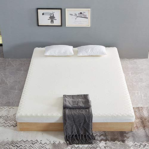 UNDRANDED Memory Foam Mattress Topper Double Mattress Breathable Fabric Fire Resistant Barrier Skin-friendly Mattresses Medium Firm Bed Mattress with Washable Zipped Cover 4FT6(135x190cm)