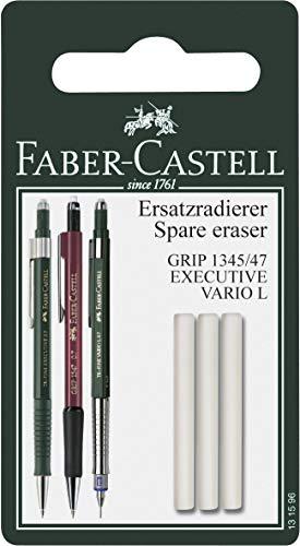 Faber-Castell 131596 - Ersatzradierer für Druckbleistift Grip 1345/1347, 3 Stück
