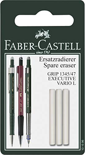 Faber-Castell 131596 - Goma de borrar recargable para Grip 1345/1347/Executive/Vario L, color blanco