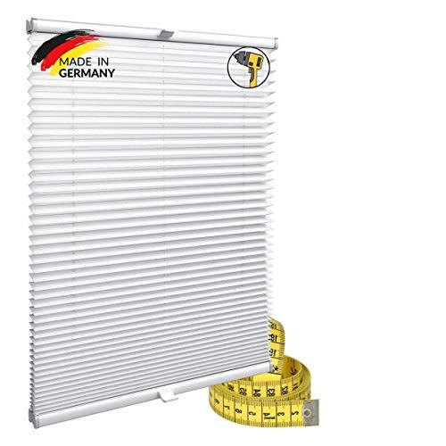 Gardinen21 Konfiguriern Sie Ihr eigenes Plissee mit Bohren Maßgefertigt für Türen & Fenster |Sonnenschutz und Blickdichte Rollos