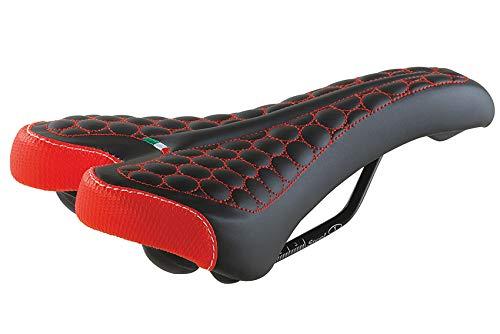 Selle Montegrappa FatBike Sattel Fahrradsattel MTB Trekking Unisex SM 4010 in 6 Farben Made in Italy schwarz rot