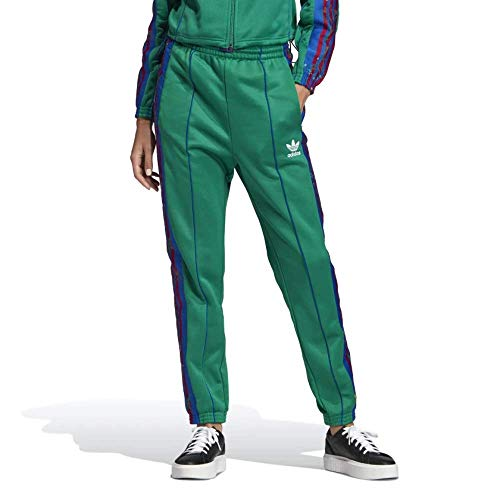 adidas Damen Floral Trainingshose, Grün (Bold Green), 34 (S)