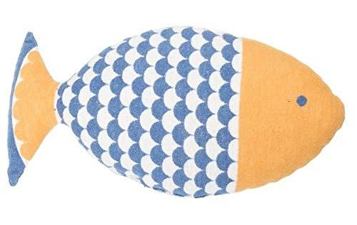 David Fussenegger - Kissen/Kuschelkissen/Kinderkissen - Fisch - gefüllt - blau - 25 x 55 cm
