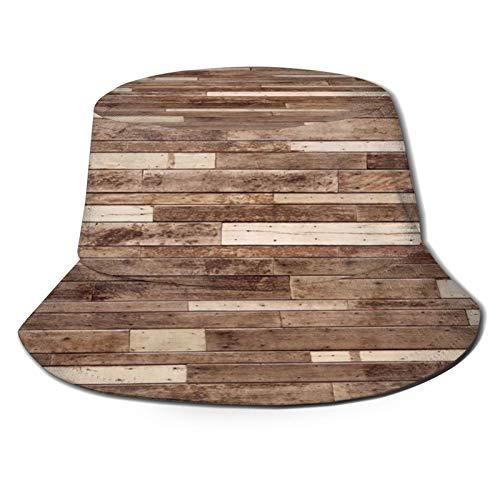Angelhut Fischerhut,Big Wood Plank Wall Holzwand Hintergrund,Bonie Safari Sonnenhüte zum Wandern im Freien für Männer und Frauen