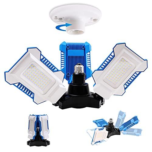 Radar Motion Sensor Garage Light, 60W 8000lm Daylight(5000K), 360° Adjustable Coverage with Human Body Induction, LED Ceiling Light for Garage Basement Workshop Warehouse, 50000Hrs, UL Listed