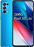 OPPO Find X3 Lite 5G - Pantalla 6,43' (AMOLED 90 Hz, 8GB + 128GB, Snapdragon 765G, 4300 mAh, carga rápida 65W. Cuádruple cámara 64MP + 8MP + 2MP + 2MP, ) Azul [Versión ES/PT]